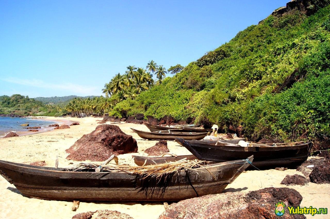 Кола и Палолем пляжи южного Гоа Индия