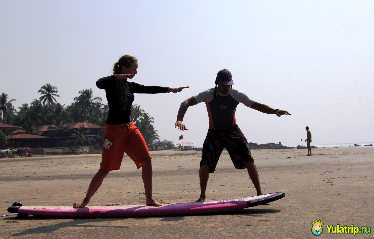 Ашвем Серфинг в Гоа Индия