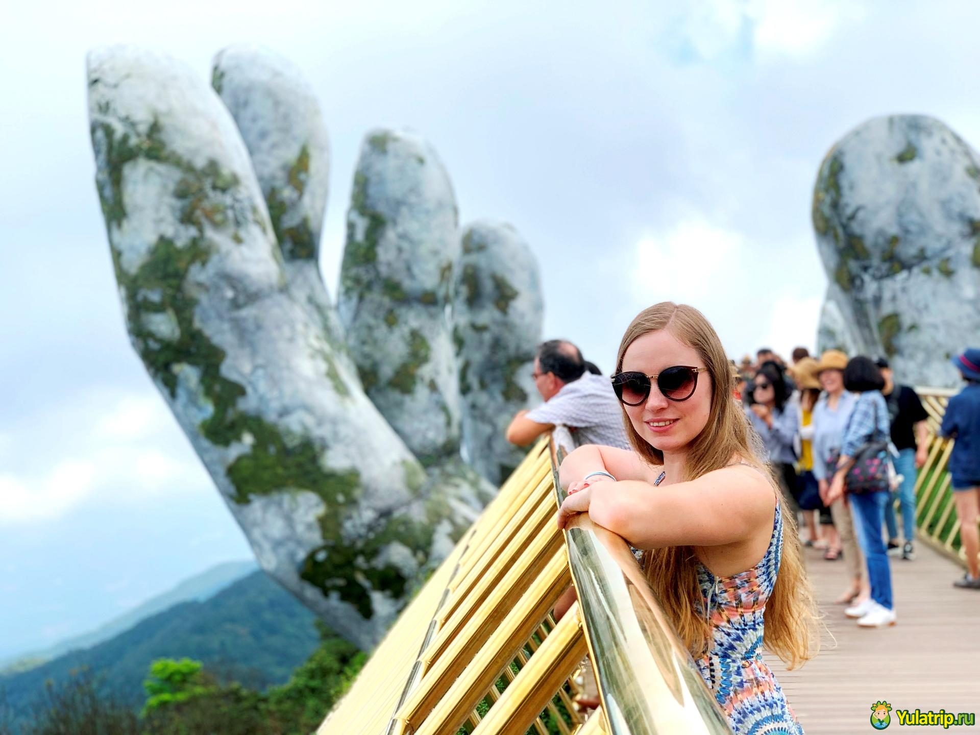 мост рука золотой мост во вьетнаме