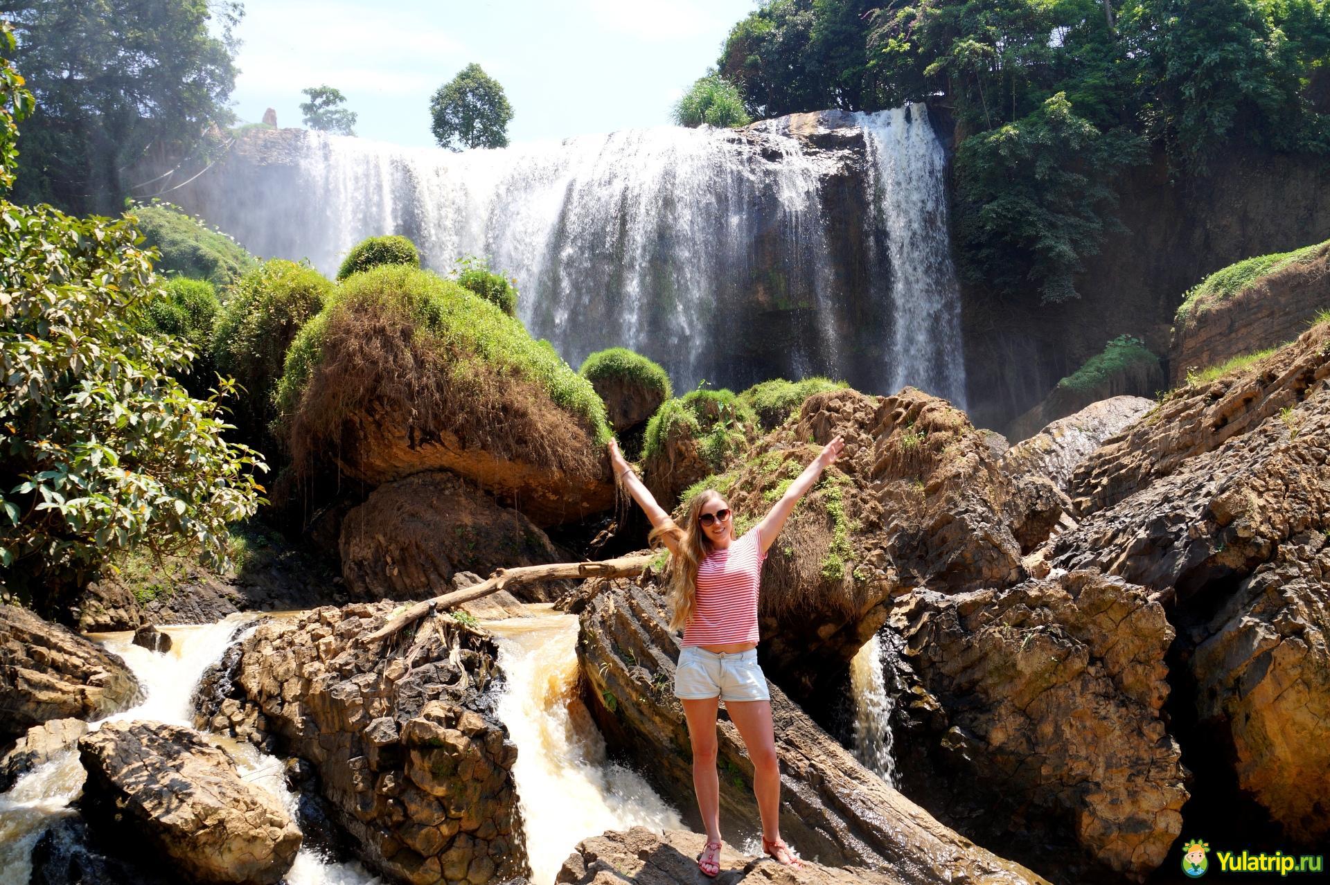 водопад слон далат вьетнам